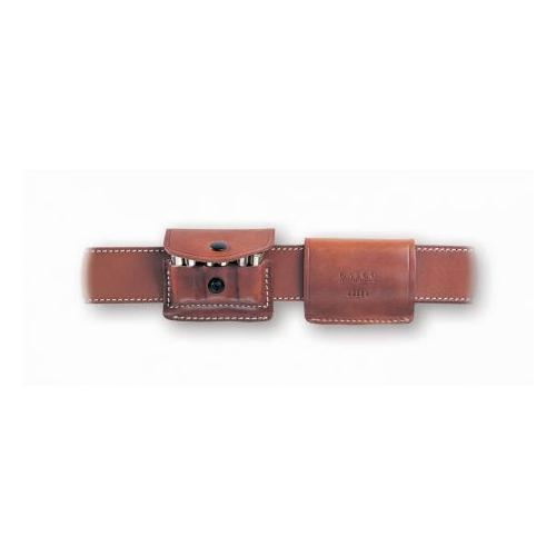 Galco 2x2x2 Ammo Carrier Ambidextrous, Tan, Revolver .357 Magnum by Galco