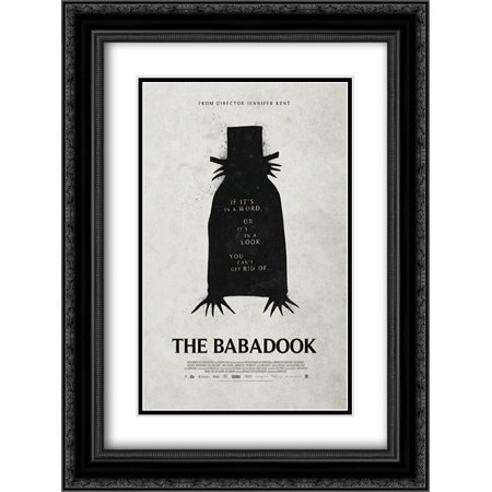 The Babadook 18X24 Double Matted Black Ornate Framed Movie Poster Art Print