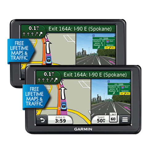 "Refurbished Garmin Nuvi 2595LMT (2-Pack) 5"" GPS w/ Lifetime Maps & Traffic Updates"