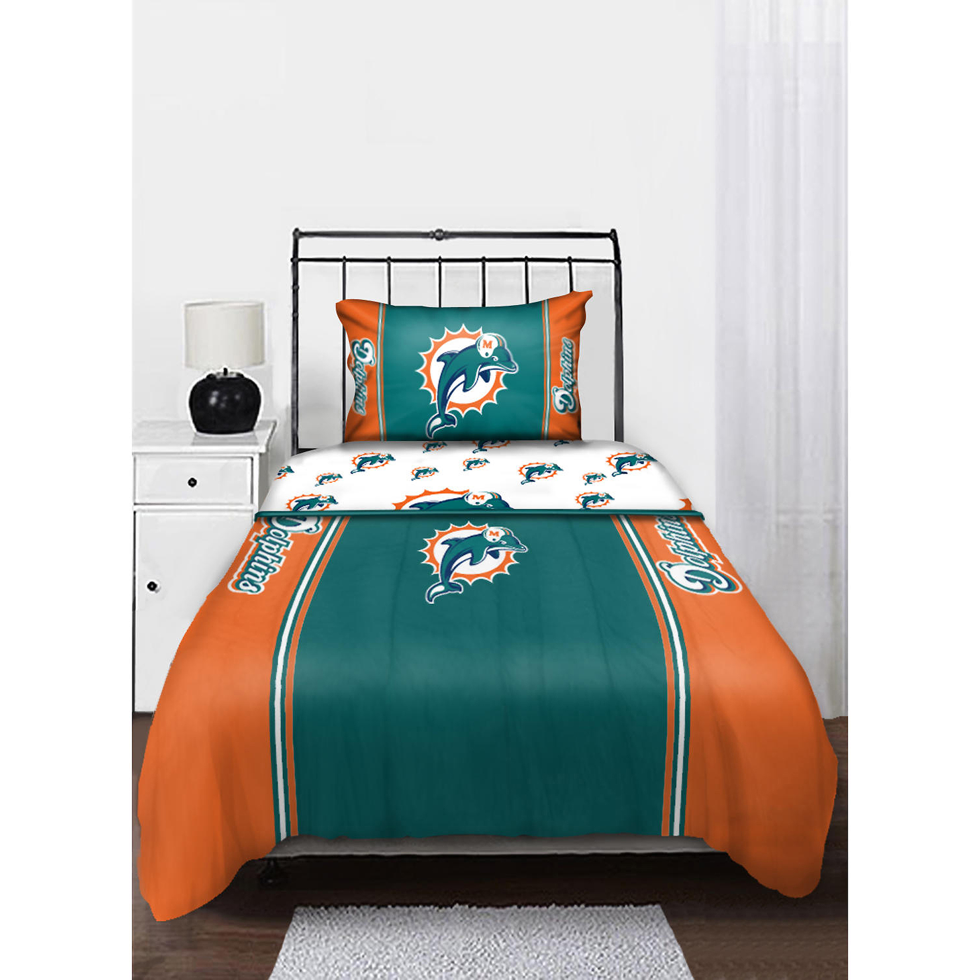 NFL Miami Dolphins Twin Sheet Set