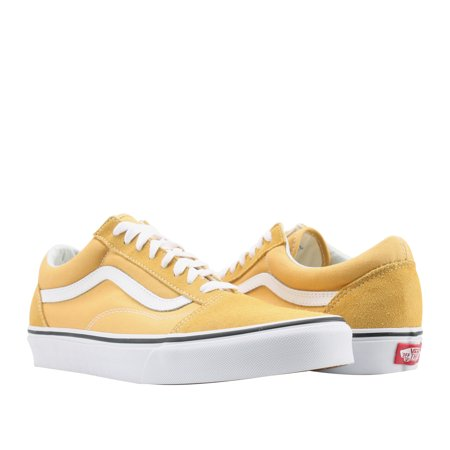 bcc009b8d8efe2 Vans Old Skool Ochre Yellow White Classic Low Top Sneakers VN0A38G1QA0