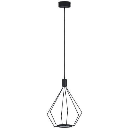 Eglo USA Eglo Cados LED Pendant with Geometric Shape and Black Finish