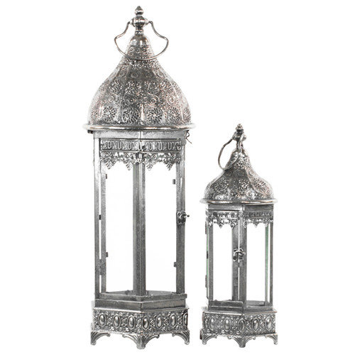 Urban Trends 2 Piece Metal Lantern Set