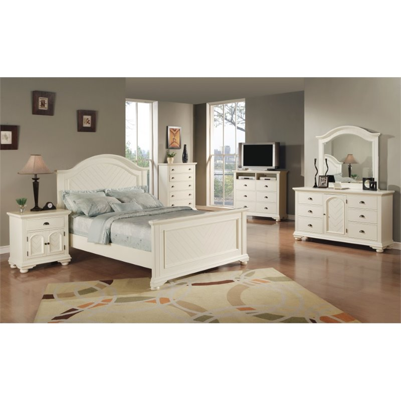 Addison 6 Piece Queen Bedroom Set in White - Walmart.com