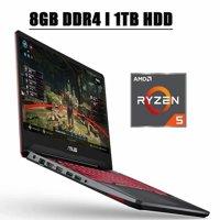"Premium 2020 ASUS TUF FX505 Gaming Laptop I 15.6"" FHD 60Hz Display I AMD Quad-Core Ryzen 5 3550H Processor I 8GB DDR4 1TB HDD I 4GB RX560 Red Backlit Keyboard 720p Webcam WIFI HDMI Win 10"