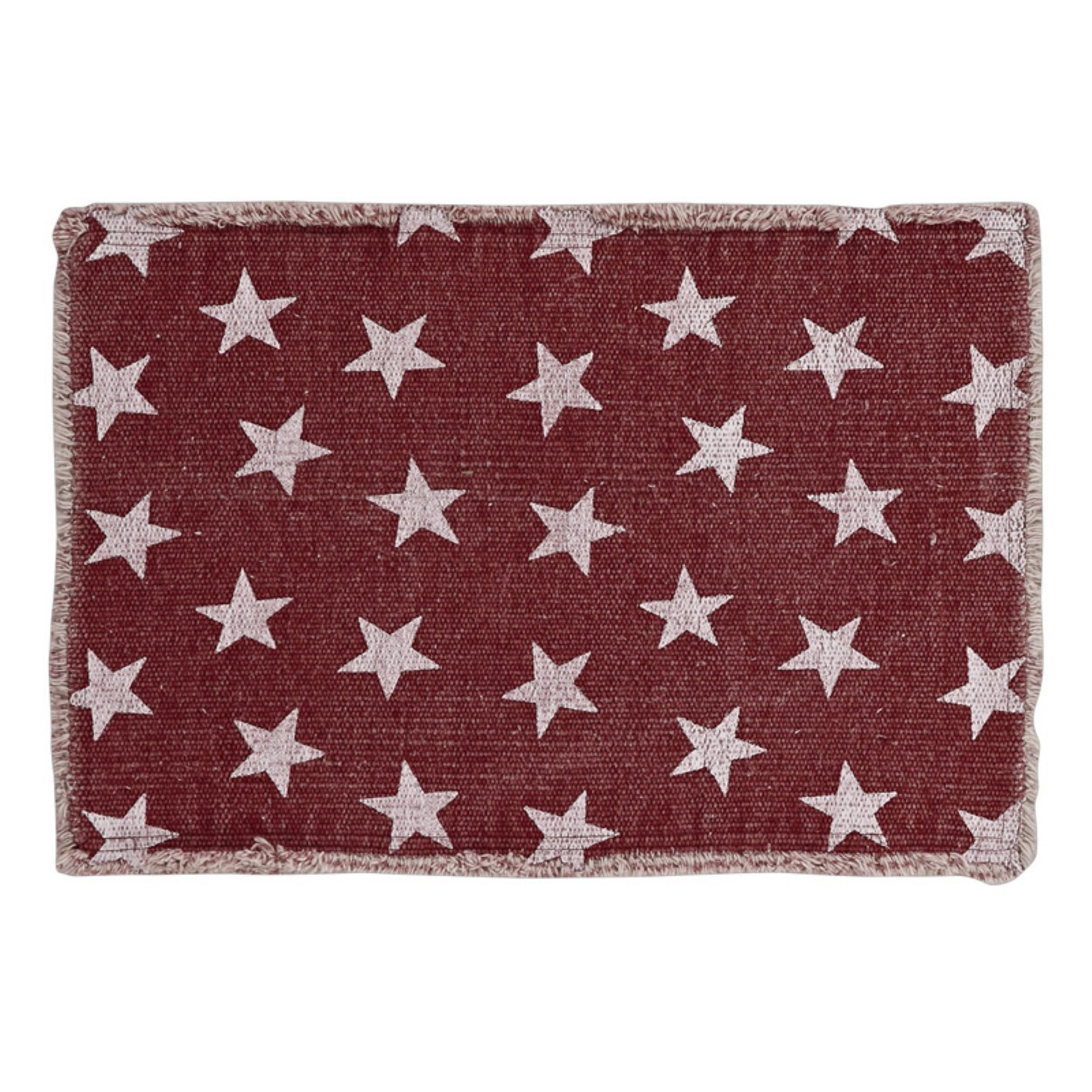 VHC Classic Country Americana Tabletop & Kitchen Multi Star Placemat Set of 6 by VHC Brands