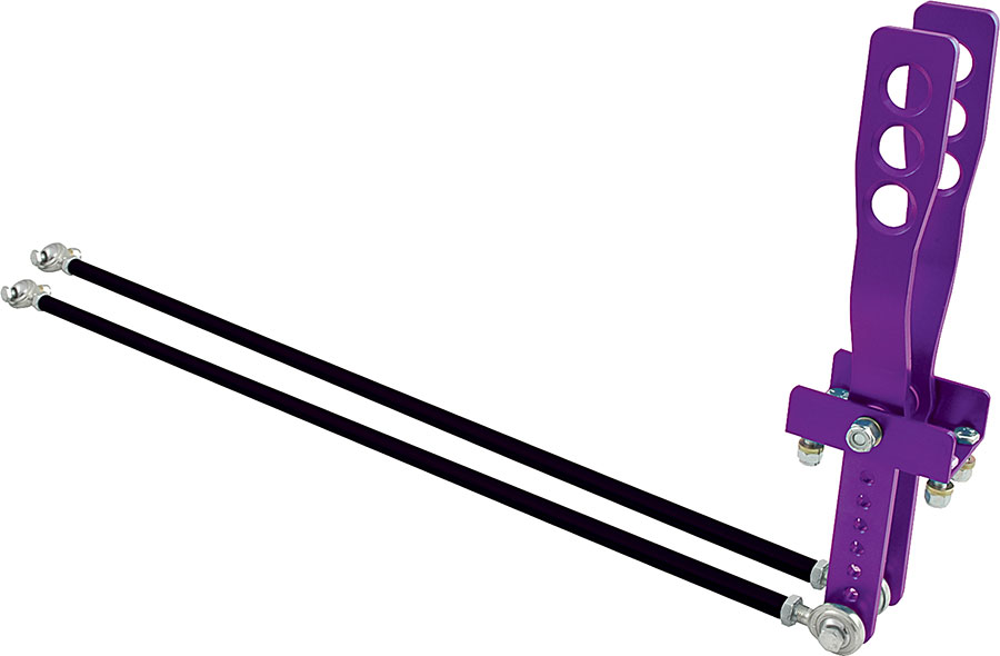 Allstar Performance Universal 2 Lever Shifter Assembly Purple Anodize P N 54122 by ALLSTAR PERFORMANCE