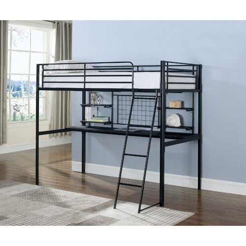 Zoomie Kids Wenham Contemporary Twin Bunk Configuration Bed with Workstation