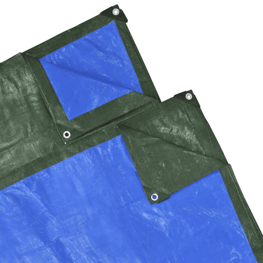 """PE Tarp Tarpaulin Cover Sheet 32' 8"""" x 4' 11"""" - Green/Blue"""
