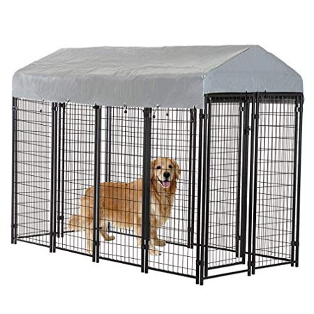 8 X4 X6 Outdoor Heavy Duty Playpen Dog Kennel W Roof Water Resistant Cover
