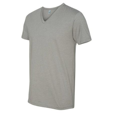 bc2221bd1572 Next Level Apparel - Next Level 6240 Men's CVC V-Neck T-Shirt - Stone Gray  - 2X-Large - Walmart.com