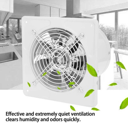 LHCER 40W 220V Wall Mounted Exhaust Fan Low Noise Home Bathroom Kitchen Garage Air Vent Ventilation, Bathroom Window Exhaust Fan, Kitchen Bathroom Exhaust Fan Wall Ventilation Fan