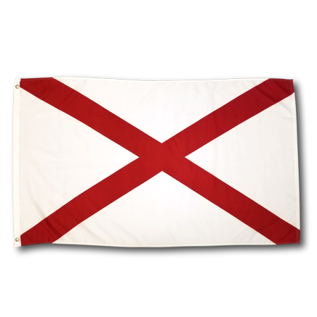 3x5 Foot Alabama Flag Double Stitched Alabama State Flag with Brass Grommets | 3 by 5 Foot Premium Indoor Outdoor Polyester Banner Flag