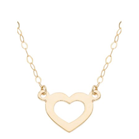 pendant cut yellow heart image s solid loading hills diamond itm gold flat beverly is necklace