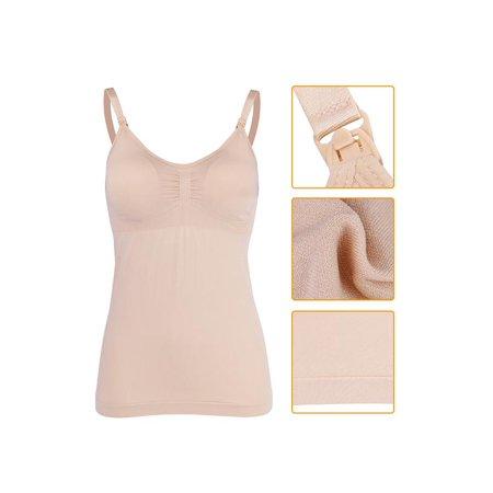 4b8c8ecf6c29a Ejoyous - Slim Breastfeeding Tank Top with Built-in Nursing Bra Maternity  Vest Undershirt