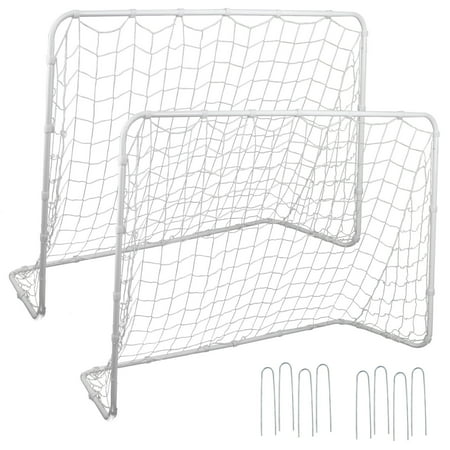 Zeny 2Pack 6'x4' Portable Youth Size Steel Frame Soccer Goal Football w/Durable -
