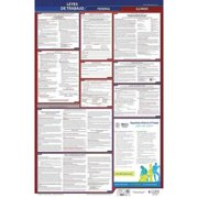 JJ KELLER 400-IL-5 Labor Law Poster,Fed/STA,IL,SP,26inH,5yr