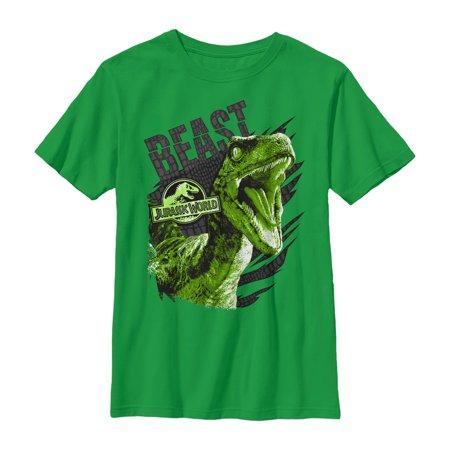 Jurassic World Boys' Raptor Beast Pattern T-Shirt (Beast Boy Birthday)