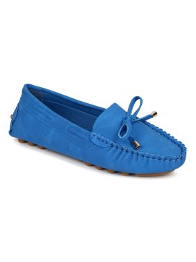 Misbehave CF74 Women Leatherette Bow Tassel Slip On Moccasin Flat