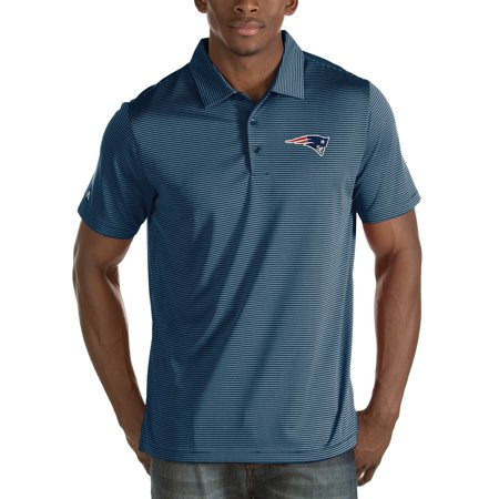 New England Patriots Antigua Quest Stripe Polo - Navy ()