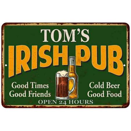 TOM'S Irish Pub Personalized Beer Metal Sign Bar Decor 8x12 208120013157