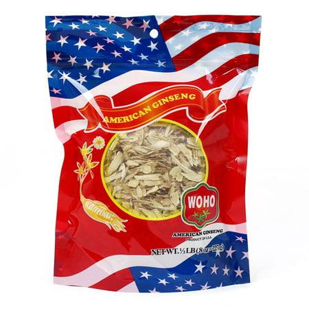 WOHO # 125,8 ginseng américain petite tranche Sac 8 oz