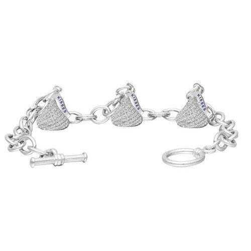 Hershey's Kiss Cubic Zirconia Toggle Link Bracelet