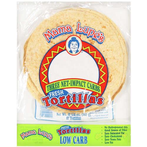 Mama Lupe's: Three Net-Impact Carbs Fresh Tortillas, 12.5 Oz