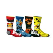 Angry Birds 4-Pack Boys Socks [Shoe Size 11-2 and Sock Size 6-8 for North American Sizes]