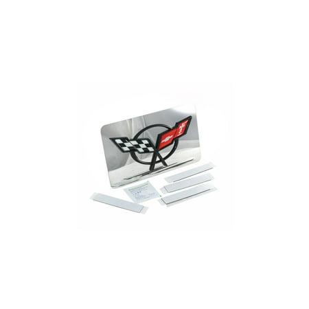 Eckler's Premier  Products 25-112365 - Corvette Exhaust Enhancer Plate With Black Acrylic C5