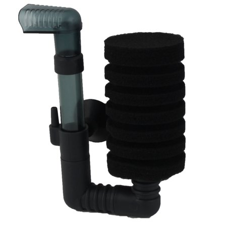 Aquarium Sponge Air Pump Single Head Tube Biochemical Water Filter w Suction Cup