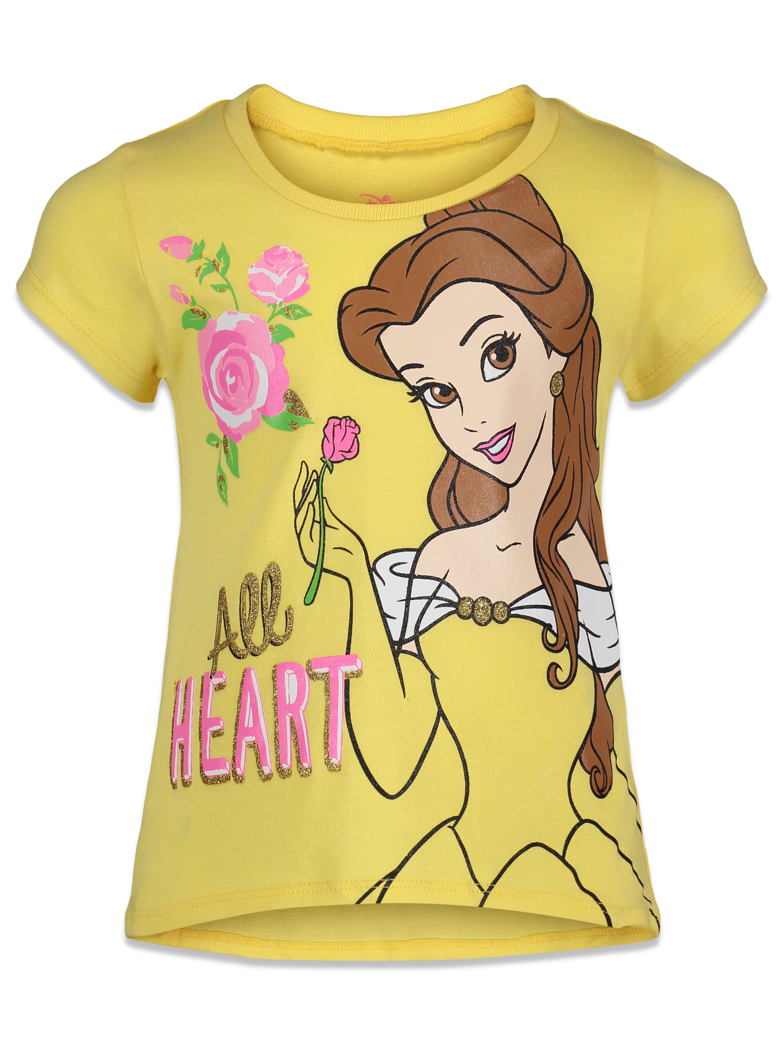 Disney Princesses Toddler Girls T-Shirts Cinderella Ariel More Various Sizes NWT