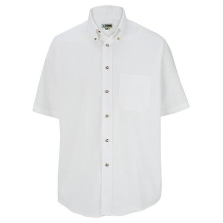 Men's Big And Tall Button Down Poplin Shirt, WHITE, 2XLT