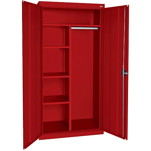"Elite Series Combination Cabinet with Adjustable Shelves, 36""W x 24""D x 78""H, Red"