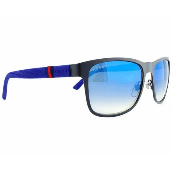b33b0be8509 Gucci - GG 2247 S 4VDKM - Matte Blue Gucci 56-17-140 mm Sunglasses Men -  Walmart.com