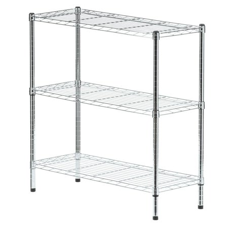 HDX 3-Tier 35.7 in. x 36.5 in. x 14 in. Wire Home Adjustable Legs ...