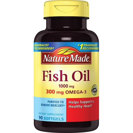 Fish Oil 1000 Mg  300 Mg Omega 3  90 Count  Ship From Usa Brand Nature Made