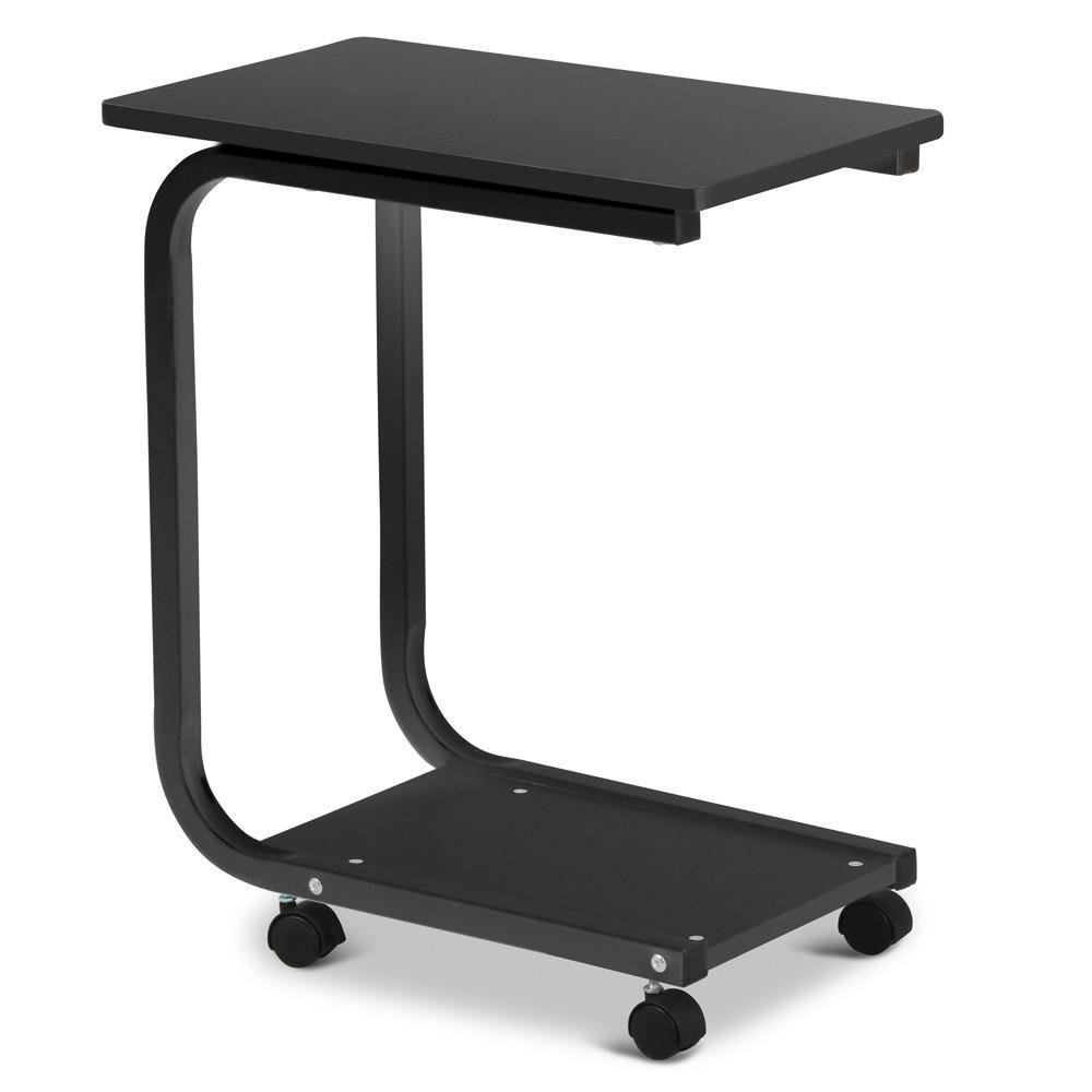 Zimtown Removable Coffee Table Sofa Side End Snack Tray Table Rolling Cart Over Bed Laptop Desk Black