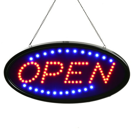 AGPtek LED OPEN Sign Electric Billboard Bright Advertising Board Flashing Window Display Sign