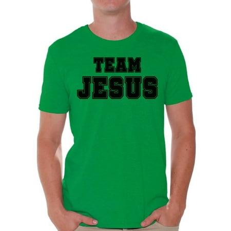 Awkward Styles Christian Clothes for Men Team Jesus T Shirt for Men Christian Mens Black Shirts Team Jesus T-Shirt Christ Tshirt for Men Christian Gifts Jesus Shirts Jesus Clothing Collection for Men