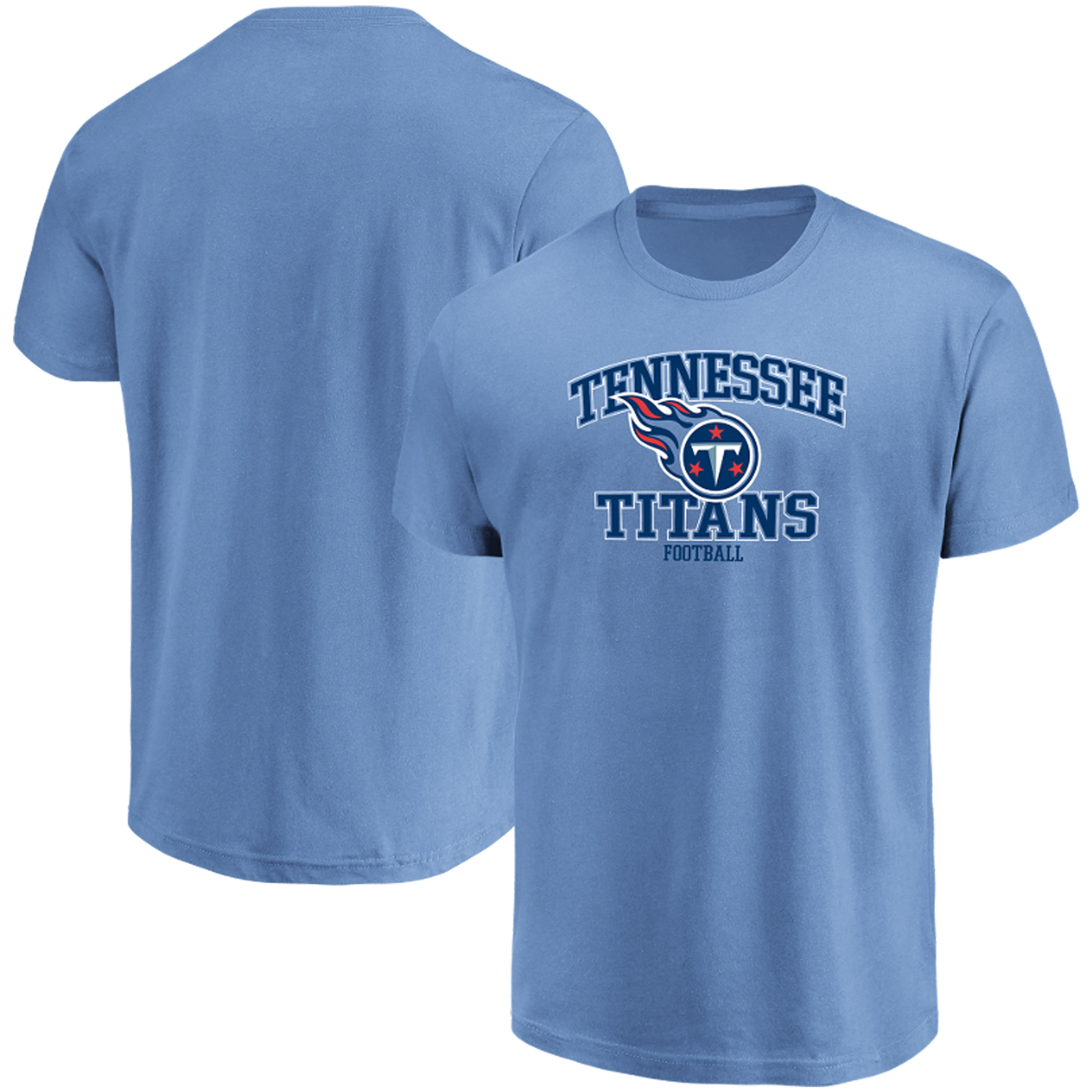 Men's Majestic Light Blue Tennessee Titans Greatness T-Shirt