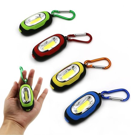 1 Portable COB LED Flashlight Carabiner Keychain Camping Light Hiking Torch Gift - Led Keychain