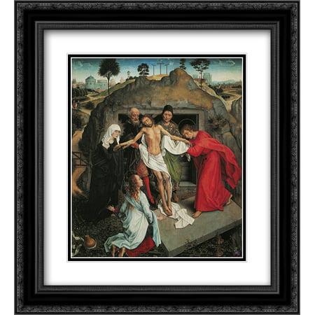 Andrea Mantegna 2x Matted 20x22 Black Ornate Framed Art Print 'Lamentation Over the Dead (Andrea Mantegna The Lamentation Over The Dead Christ)