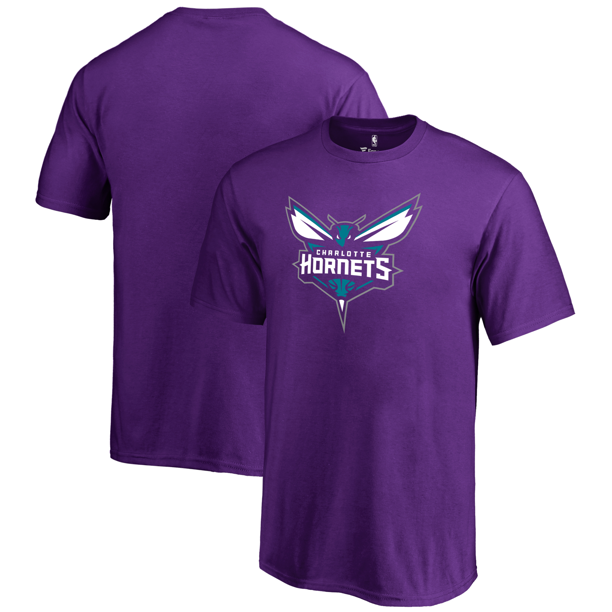 Charlotte Hornets Fanatics Branded Youth Primary Logo T-Shirt - Purple
