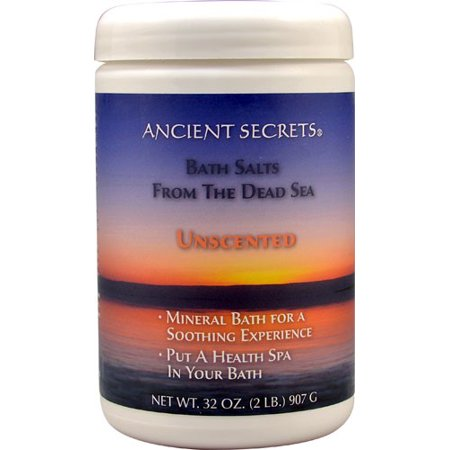 Ancient Secrets Aromatherapy Dead Sea Mineral Bath Salts, Unscented, 2 (Aromatherapy Unscented Bath Salt)