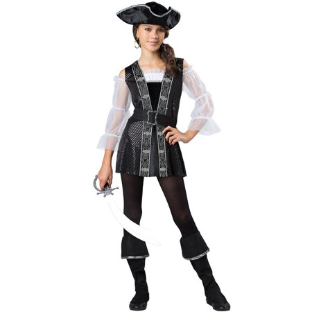 Dark Pirate Lass Tween Costume - Tween Steampunk Costume