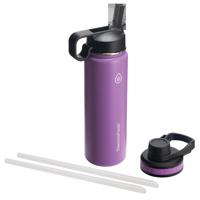 Thermoflask Combo Chug and Straw Lid, 24oz Plum