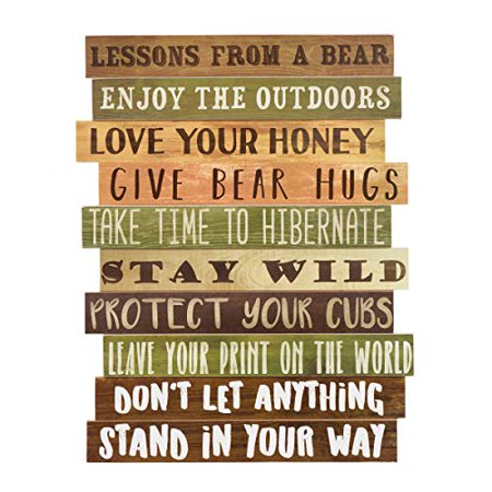Black Forest Decor Bear Advice Wood Wall Sign](Beer Decor)