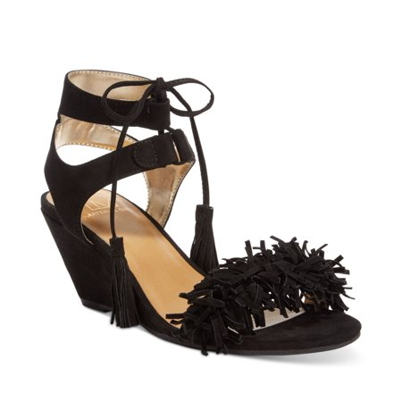 Material Girl Haniya Fringe Wedge - Wedges Girls