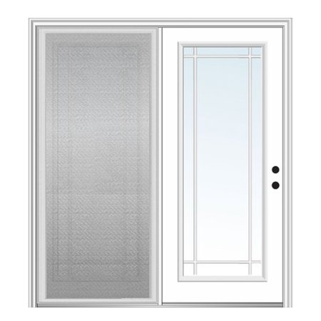 Verona Home Design Majestic Fiberglass Prehung Patio Door With